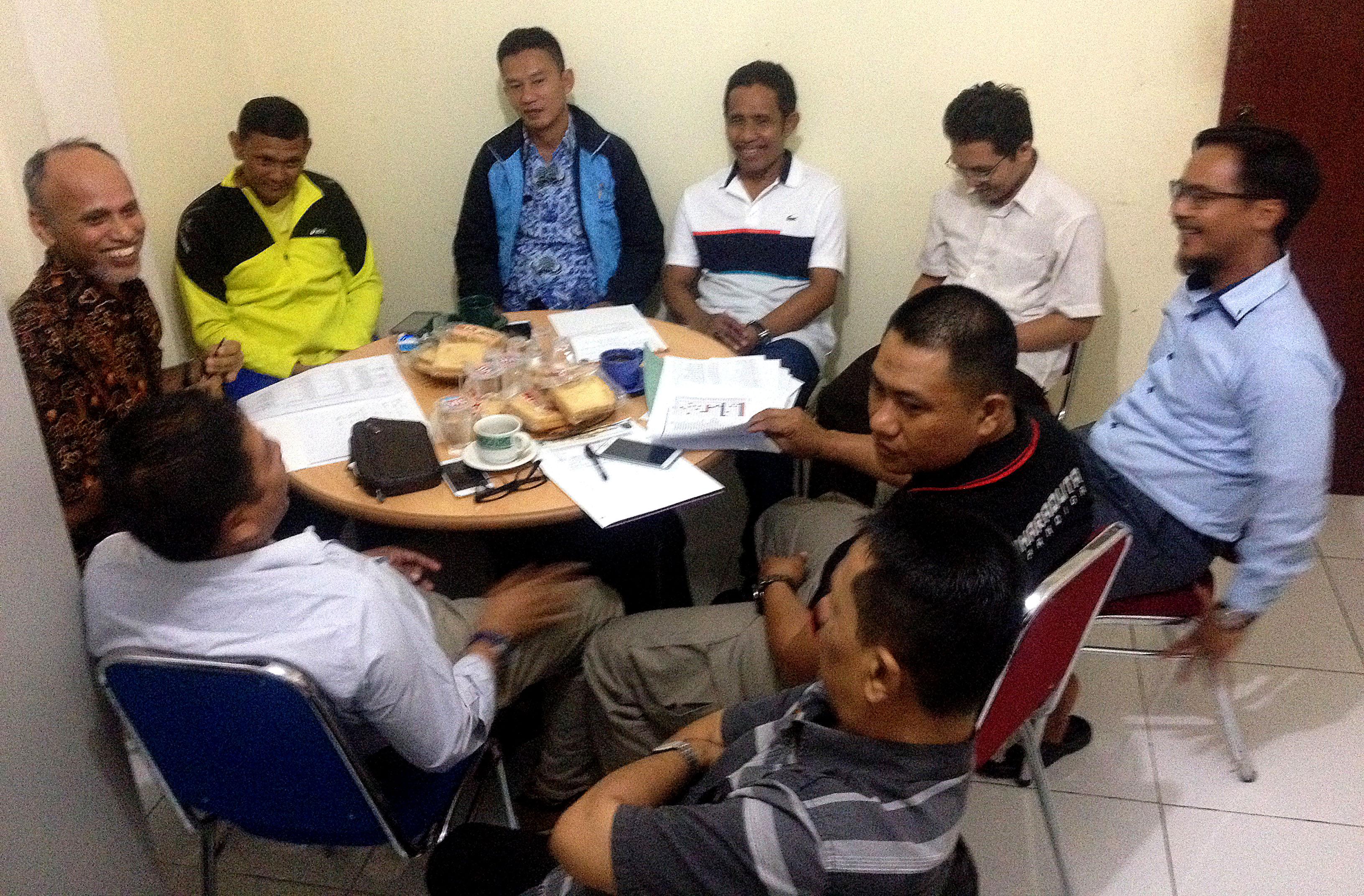 Audensi Pengurus Pengcab Taekwondo dengan pengurus KONI Kota Depok