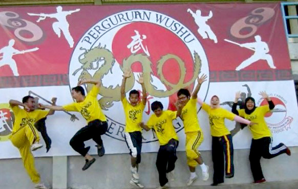 Para Atlet Wushu Kota Depok dari perguruan gerak naga