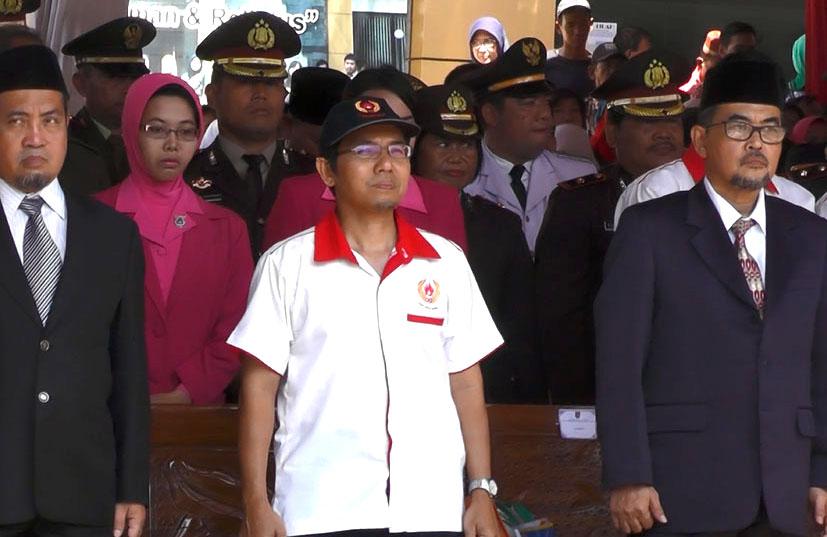 Ketua KONI Kota Depok saat menghadiri peringatan HUT RI ke 72