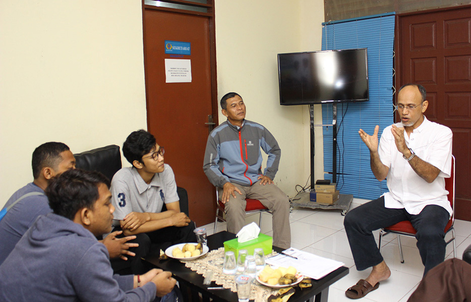 Ka Binpres Mustafa saat berdiskusi perkait persiapan atlet