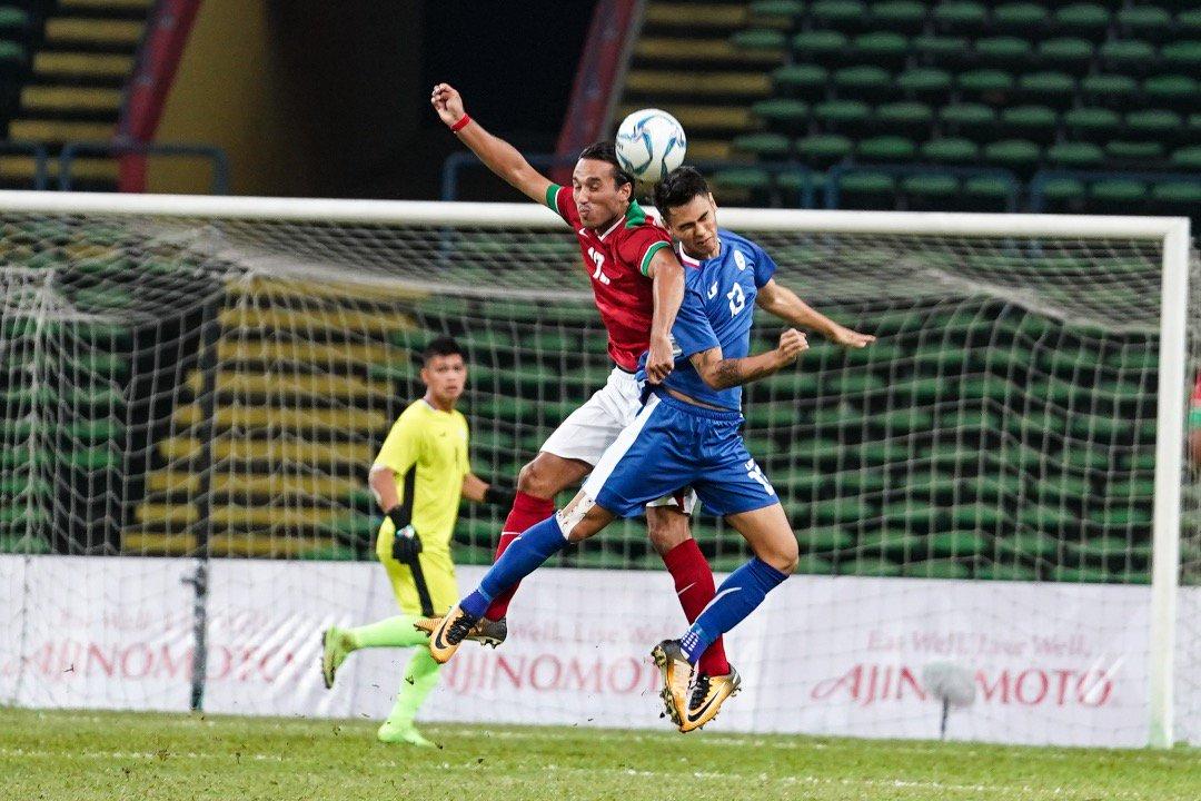 Pemain sepakbola Indonesia vs Filipina