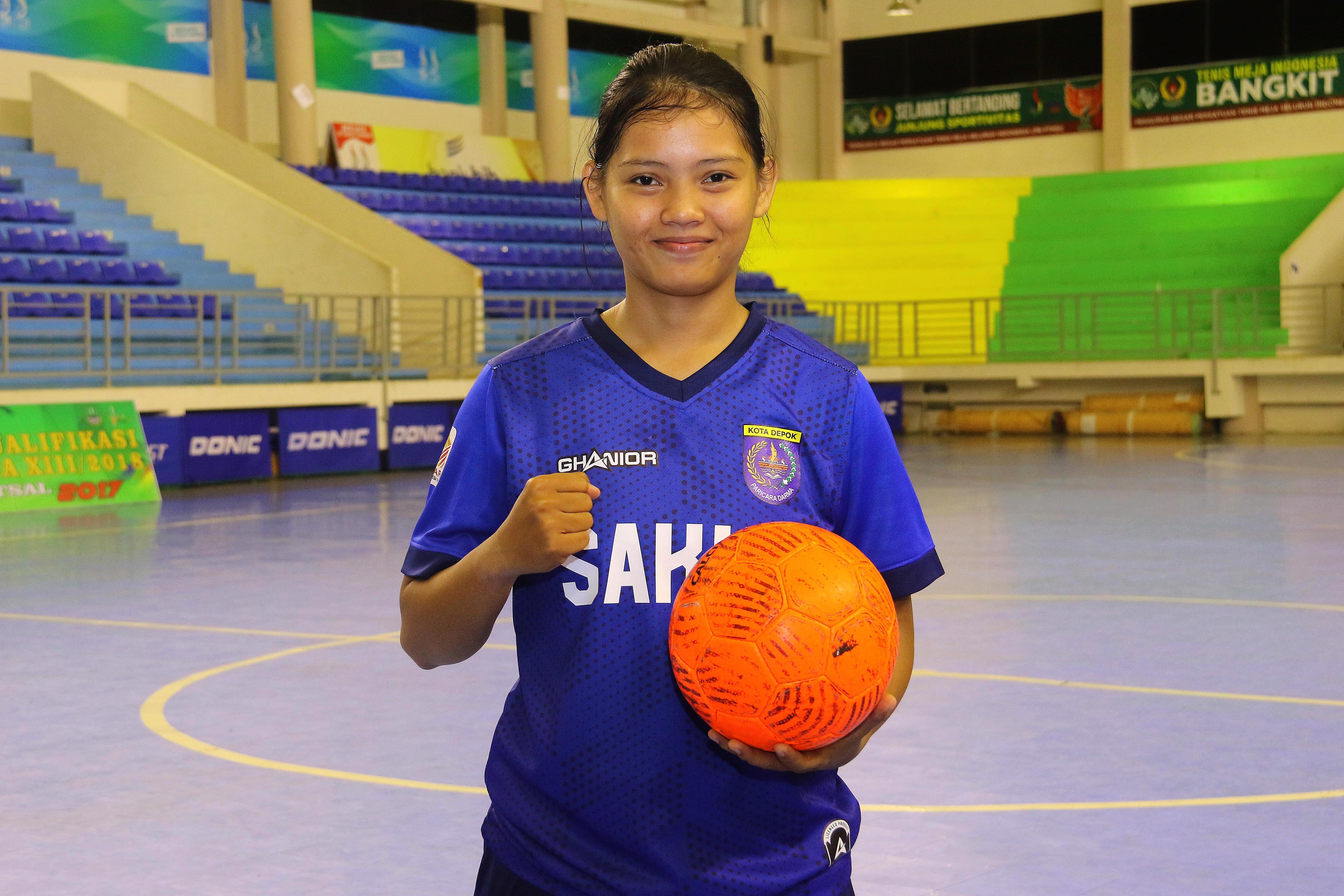 Nur Halima Kiper Utama Futsal Putri Kota Depok