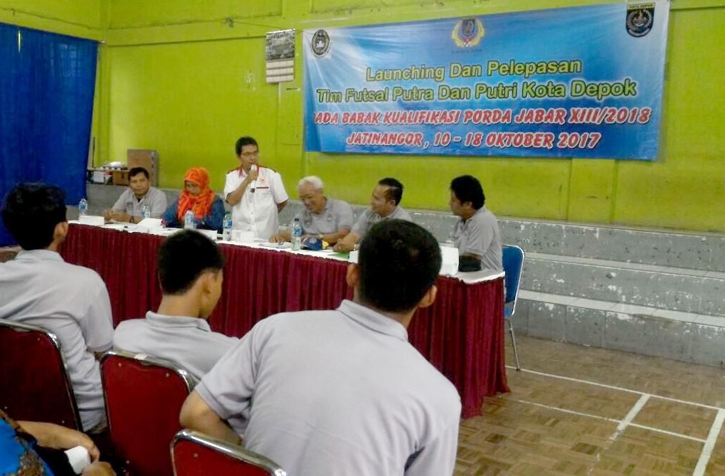 Sambutan Ketua KONI Lepas Tim BK Futsal Porda