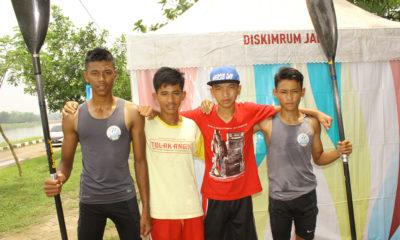 Atlet Kayak 4 Kota Depok yang turun pada gelaran babak kualifikasi Porda Jabar