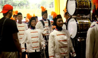 Tim drumband Kota Depok saat memasuki arena lomba