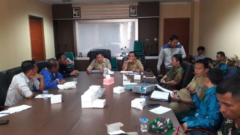 Rapat rencana penyelenggaraan LPI di kantor dinas kota Depok