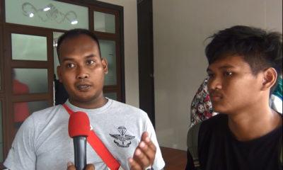 Afrizal pelatih anggar saat sesi wawancara yang dilakukan oleh tim Humas KONI Kota Depok