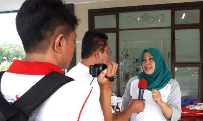 Desiana Manager Tim Kota Depok saat sesi wawancara yang dilakukan oleh Humas KONI Kota Depok