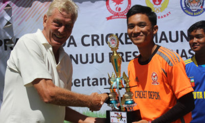 Tim Putra Cricekt Kota Depok Yang meraih Juara 3 pada gelaran try out di mega mendung Bogor Jawabarat