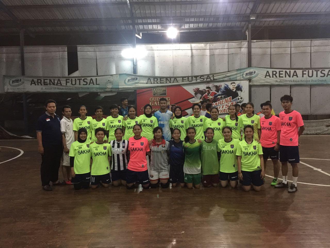 Futsal Putri Uji Tanding dengan Tim Futsal Kota Bekasi