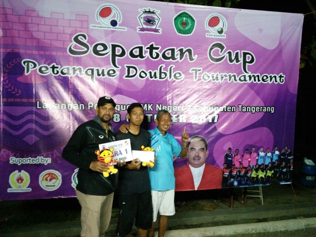 Anom Atlet Kota Depok yang meraih medali Emas di kejuaraan Sepatan Cup