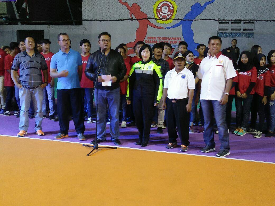 Wakil Binpres Kota Depok Menghadiri pembukaan kejuaraan Voli Diana Jaya Cup