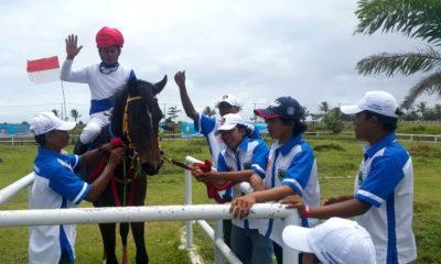 Kuda pacuan kota Depok yang bersiap untuk melaksanakan pertandingan di babak kualifikasi porda jabar