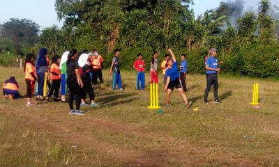 Lokasi latihan sementara cabang olahraga cricket yang terletak di belakang SMA 10
