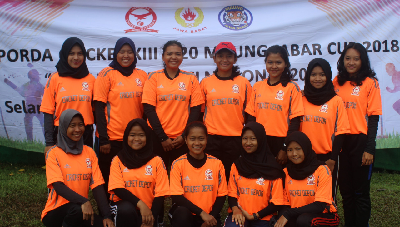 Atlet Cricket Putri Kota Depok Usai melaksanakan pertandingan Praporda Jabar 2017