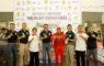 Ketua KONI Kota Depok Drs Amri Yusra M.Si bersama Brigadir Jenderal TNI Joko Purwo Putranto di acara kejuaraan open turnamen karate divisi 1 Kostrad