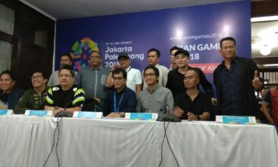 Wishnutama (tengah baju biru) ditunjuk menjadi Creative Director untuk seremoni pembukaan dan penutupan Asian Games 2018. Tempo/Egi Adyatama