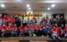 Foto bersama Pengurus FPTI yang baru saja dilantik didampingi jajaran Ketua KONI Depok, perwakilan pemerintah, TNI dan Polri
