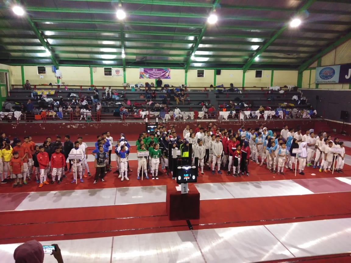 Suasana pembukaan kejuaraan Sirkuit 1 ikasi Jawa barat