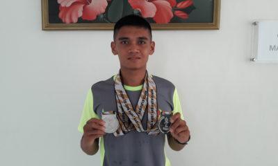 Anton Rimardo Peraih 2 medali perak Atletik di nomor  800m dan 1500m putra ajang Porda XIII Jabar 2018
