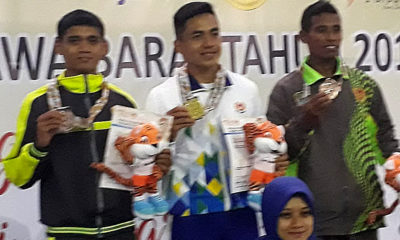 Anton (kiri) Atlet Atletik menyumbangkan medali perak di nomor 800m putra