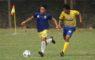 Pesepak bola Kota Depok, Novriadi (kiri) sedang beraksi dalam laga Kota Depok vs. Kab. Bekasi PORDA Jabar XIII-2018 di Lapangan Sepak Bola Brimob Kedung Halang, Bogor, Senin (1/10) sore. Kota Depok berhasil menang 3-2 melawan Kab. Bekasi. KONI KOTA DEPOK/Faruqi/2018
