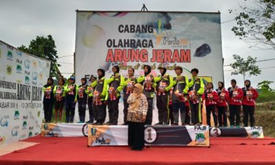 Upacara Peenyerahan Penghargaan medali emas Cabang Olahraga Arung Jeram
