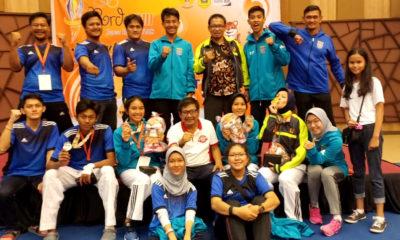 Luapan kegembiraan para atlet dan official atas keberhasilan meraih medali di Porda Jabar 2018.