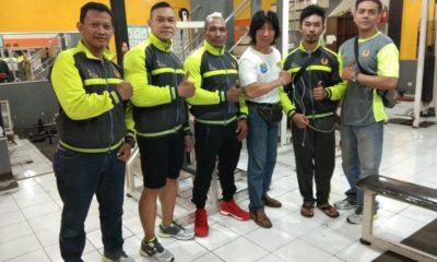 Para Atlet Binaraga di tempat latihan sebelum berangkat untuk bertanding di Porda Jabar 2018