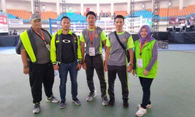 Atlet,pelatih dan Official foto bersama dilokasi pertandingan