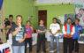 Dadang Sasmita koordinator Pengprov PTMSI  wilayah 1 jawa barat memberikan sambutan di acara liga pelajar PTMSI wilayah 1 di GOR KONI Kota Depok Minggu, ( 03/02/19 ).