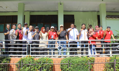 Ketua KONI Kota Depok Drs. Amri Yusra, M.Si bersama unsur pemerintahan menghadiri pembukaan Turnamen SMATERS Cup di SMA Sejahtera 1 Depok (23/02/19)
