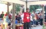 Mohammad Idris memberikan sambutan di acara turnamen sepakbola piala Walikota Depok 2019 dilapangan Hawai,Sabtu (09/02/19).