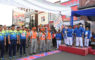 Walikota Depok Muhammad Indrs melepas peserta gerak jalan di acara Porpemkot 2019 di GDC, Jum'at (15/03/19).