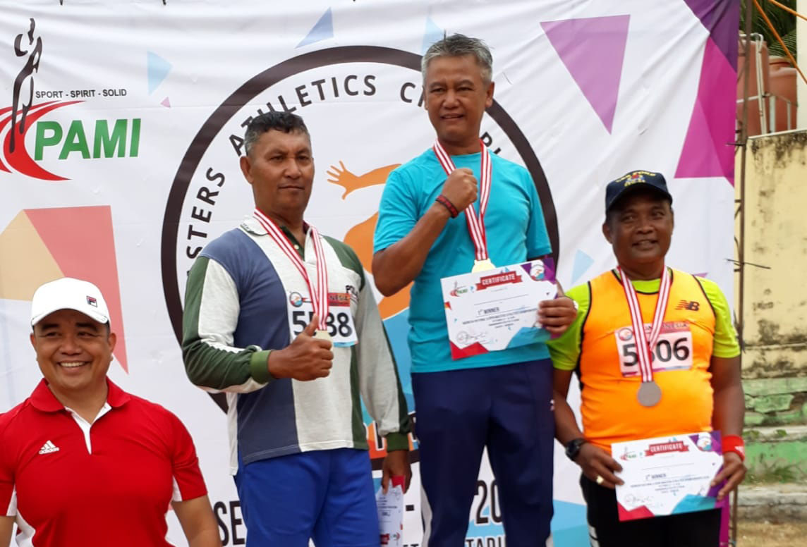Deni Sabet 4 Medali di Kejuaraan Atletik Master